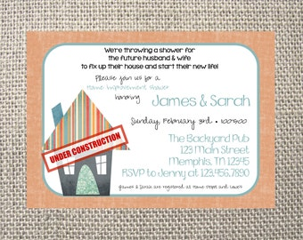 PRINTED or DIGITAL Tools Home Improvement Construction Couples Kitchen Wedding Shower Invitations 5x7 Customized Invites Design 0.82 each
