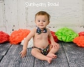 Baby Boy's Sports Diaper Cover and Bow Tie Cake Smash Set