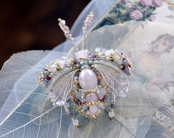 """Shop """"rose quartz beads"""" in Brooches"""