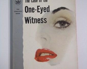 Perry Mason Case of the One Eyed Witness Erle Stanley Gardner Pocket Books 1955 Vintage Mystery Paperback GGA