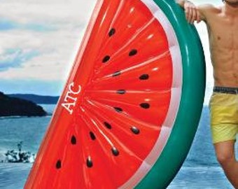 Large Inflatable Watermelon Float with Monogram