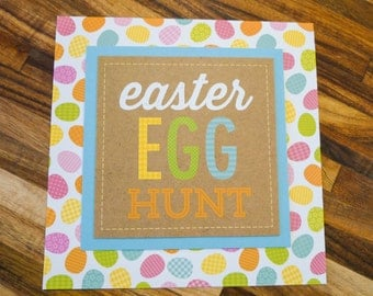 Easter Egg Hunt Handmade Easter Card
