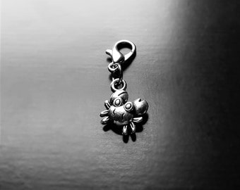 Crab Dangle Charm for Floating Lockets, Necklaces, or Bracelets-Gift Ideas for Women