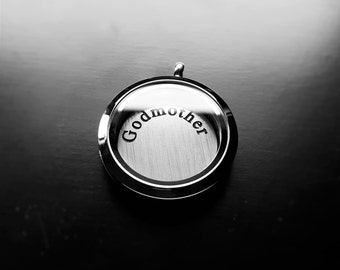 Godmother Window Plate for Large Floating Lockets-Gift Idea for Women