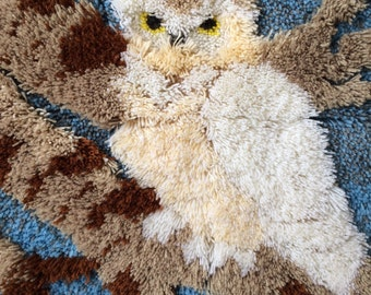Vintage Owl Needlepoint
