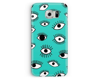 Samsung S5 case, Eyes Pattern, Eyes Phone Case, Case for S5, Kawaii Samsung Cover, Plastic Phone Case, Gift for Her, Gift ideas, Friend gift