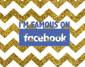 Famous On Facebook SVG