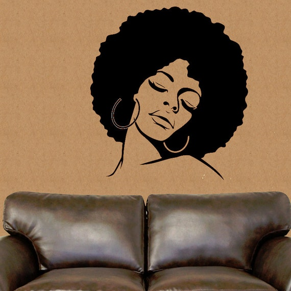 African American Wall Decal African Wall Decor African Vinyl