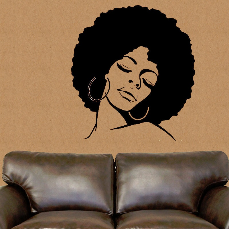 African american wall decal african wall decor african vinyl for African wall decoration