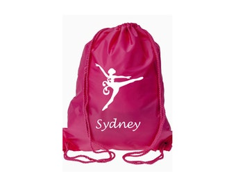 Personalized Dancer Cinch Back Pack - Back Pack - Overnight Bag - Drawstring Back pack, Sports Bag, Flower Girl Gifts