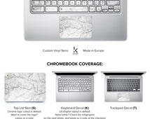 White Marble Chromebook Skin Chromebook Decal Chromebook Cover Keyboard Decal Sticker Acer Asus Dell HP Lenovo Toshiba Chromebook Decal