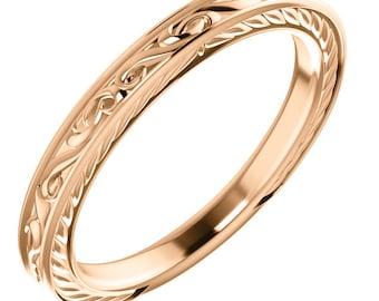 rose gold band etsy