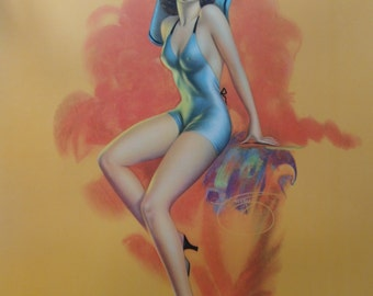 Original 1940s Pin-up Poster by Billy Devorss