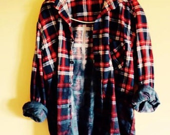 Dip Dyed Ombre Flannel