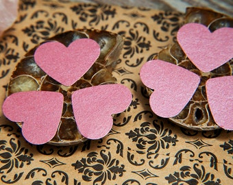 Raspberry Pink heart stickers. Envelope seals, gift stickers, bag stickers, gift box seal, favour bags, wedding labels. Love hearts.