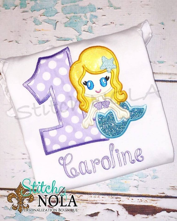 Glitter Mermaid Birthday Tee, Bubble, Bodysuit ot Dress
