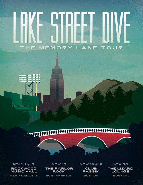 Lake Street Dive Memory Lane Tour 2015 Poster