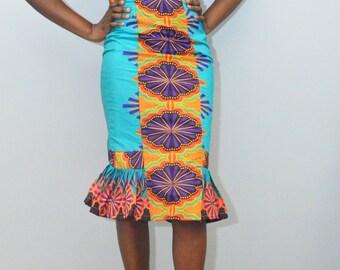 Colorful Flounce Dress