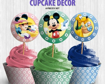 Mickey and Friends Easter Cupcake Decor