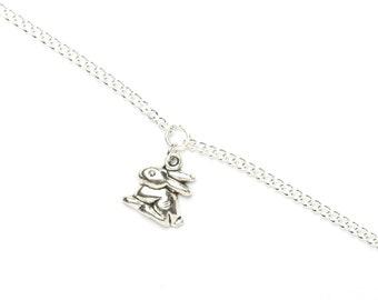 Bunny Bracelet   Silver Bunny Rabbit Charm Bracelet   Bunny Jewellery   Bunny Gift Idea