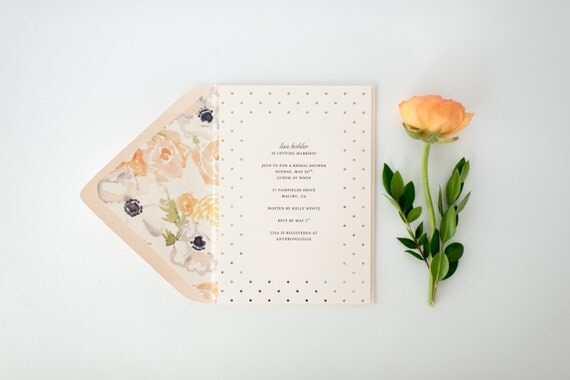 gold foil bridal shower invitation  - customizable (sets of 10)  //  lola louie paperie