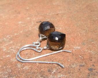 Smoky Quartz Gemstone Earrings // Bohemain Wedding // Bohemian Luxe