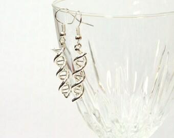 DNA Earrings, Double Helix Earrings, DNA Jewelry, Science Earrings, Geek Earrings, Beaded Earrings, Genetics Earrings, Science Jewelry