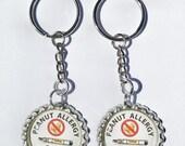 Peanut Allergy Alert Epipen. 2- pack 1 inch zipper pull charms