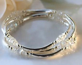 Set of Three Crystal Bangles
