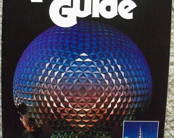 Vintage 1982 Walt Disney World Vacation Guide Soft Cover Guide  Book