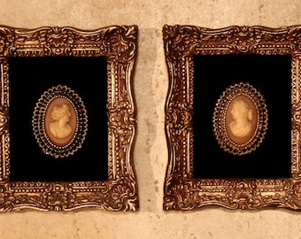 Pair of FRAMED CAMEOS