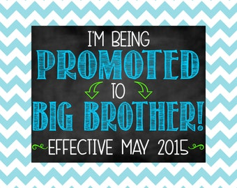 Big Brother Pregnancy Announcement Chalkboard Sign | Big Brother Reveal | I'm Being Promoted to Big Brother | Pregnancy Reveal