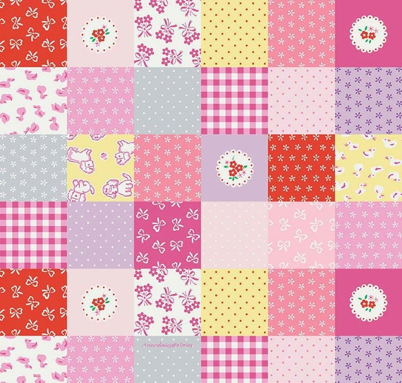 Strawberry biscuit fabric penny rose c5101 pink cheater for Baby girl fabric