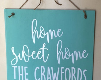Custom Door Sign, Front Door Sign, Front Door Name Sign, Welcome Sign