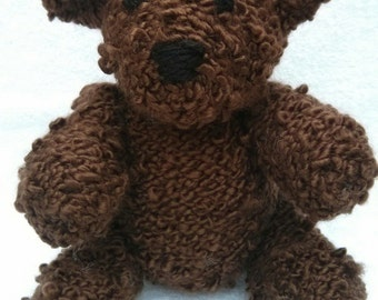 Martin the Hand Knit Teddy Bear, soft Bear, Stuffed Animal, Stuffed toy, cute bear, bear plushie, bear softie, nursery decor, plush bear