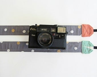 Camera strap Australia, simple camera strap, dslr strap, colour of your choice, coral pink or mint