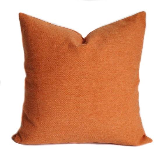 Orange Throw Pillows For Sofa : Orange pillow cover Orange pillows Throw pillow Couch