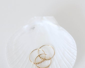 Asterim Ring // Gold filled bead ring