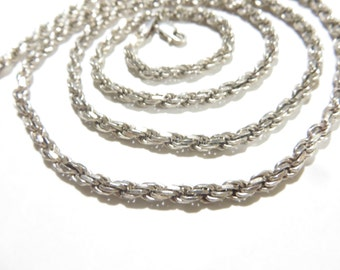 Solid 1.125 ozt Sterling Silver Rope Chain