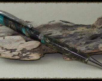 Green Teal Mist Twist Pen