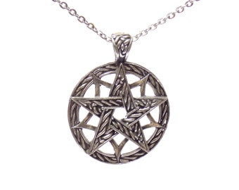 celtic pentagram necklace, birthday gift, pentagram necklace, pentagram pendant, celtic pendant, celtic pentagram, celtic necklace