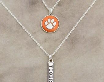 Clemson Tigers Double Down Necklace - CL57785
