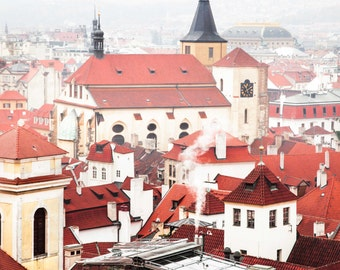 """Prague Photography, Prague Architecture, """"Cool Mist"""""""
