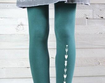 YOGA LEGGINGS -  Arrow Print Leggings - Yoga Pants - Yoga Clothes - Women's Leggings -  Yoga Tights - Printed Leggings
