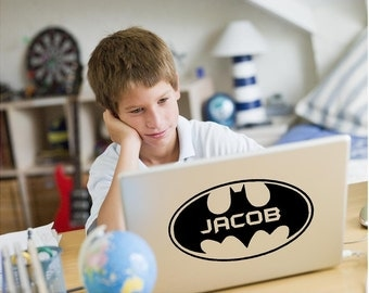 Vinyl Batman Laptop Decal, Batman Decal, Personalized Laptop Sticker