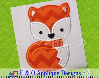 Fox Applique Design - Fox Embroidery Design - Woodland Friends Applique Design - Woodland Friends Embroidery Design - Fox Machine Applique