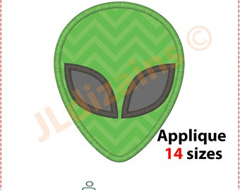 Alien Applique Design. Alien embroidery design. Embroidery design alien. Green alien embroidery. Applique alien. Machine embroidery design