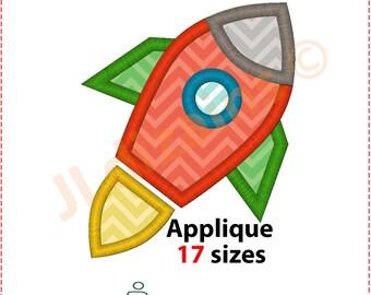 Rocket Applique Design. Rocket embroidery design. Embroidery rocket. Applique embroidery rocket. Space applique. Machine embroidery design