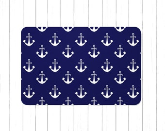 Nautical bath mat | Etsy