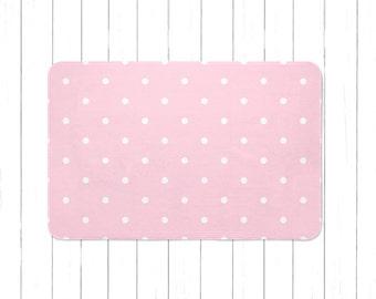 Light Pink Swiss Dots Area Rug Or Bath Mat   Minimalist Childrenu0027s Rug    Kids Area